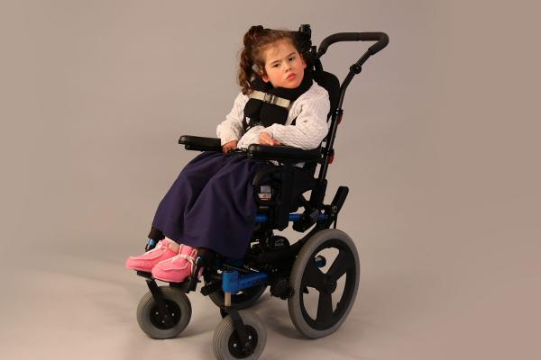 Miracle's wheelchair with Spex Seating