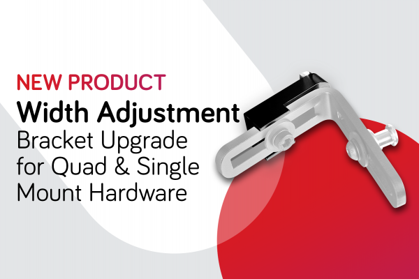 Width Adjustment Bracket Upgrade for Quad & Single Mount Back Support Hardware