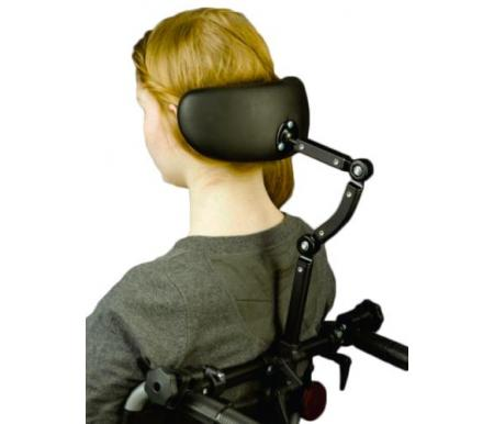 Headrest mounted to existing wheelchair canes